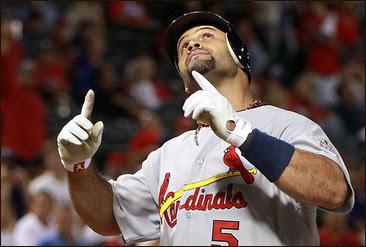 Albert Pujols trÊs home runs no mesmo jogo da World Series