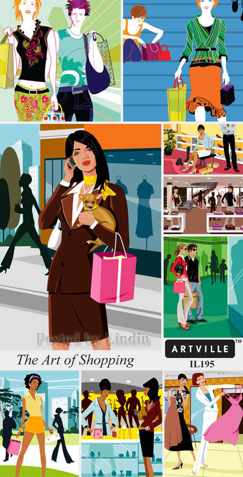 Illustrations The Art of Shopping