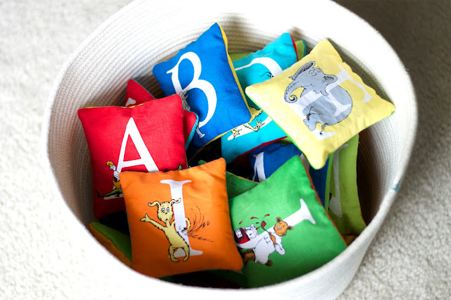 Dr. Seuss Pillow Letters by Today I Felt Crafty