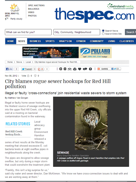 news story city blames rogue sewer hookups hill pollution