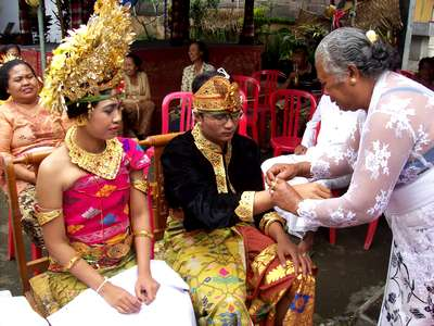 Balinese Wedding ceremony in October 2012