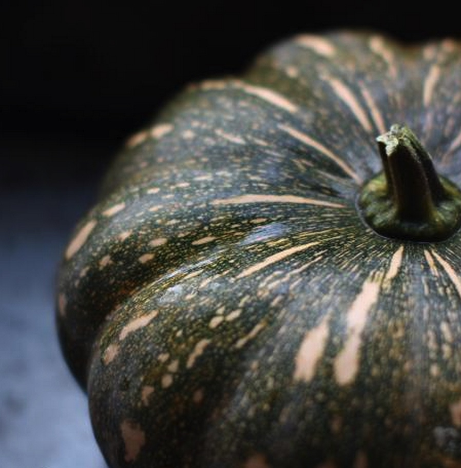 a green pumpkin