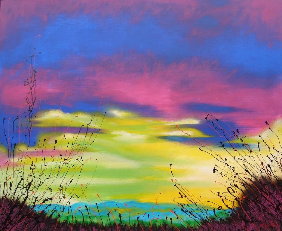 Cuadros modernos pinturas y dibujos paisajes abstractos for Fotos de cuadros abstractos sencillos