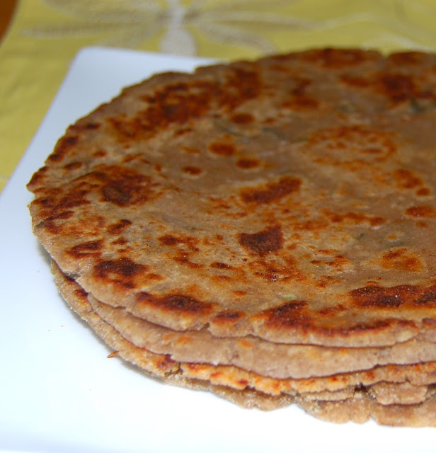 Arbi or Colocasia Paratha, a gluten-free, vegan recipe