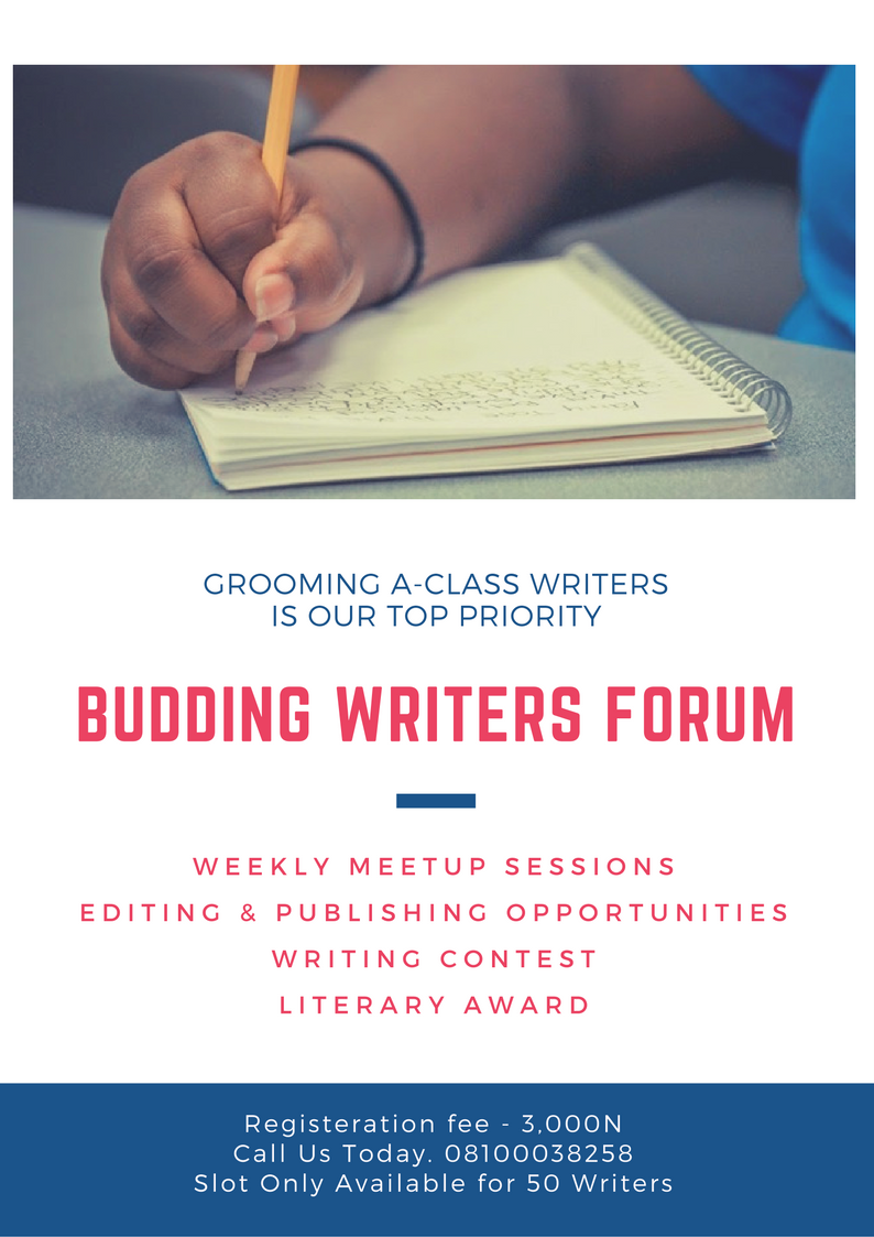 REGISTER FOR THE BUDDING WRITERS FORUM