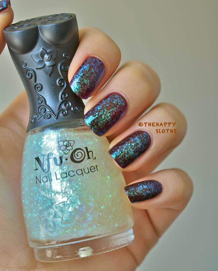 Nfu Oh #40 Flakie Nail Polish: Review and Swatches | The Happy ...