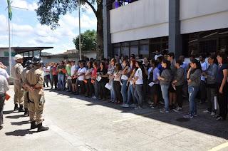 UNIFESO Teresópolis faz exercício simulado de escape em prédios no Dia Estadual de Redução de Risco de Desastres no Rio de Janeiro