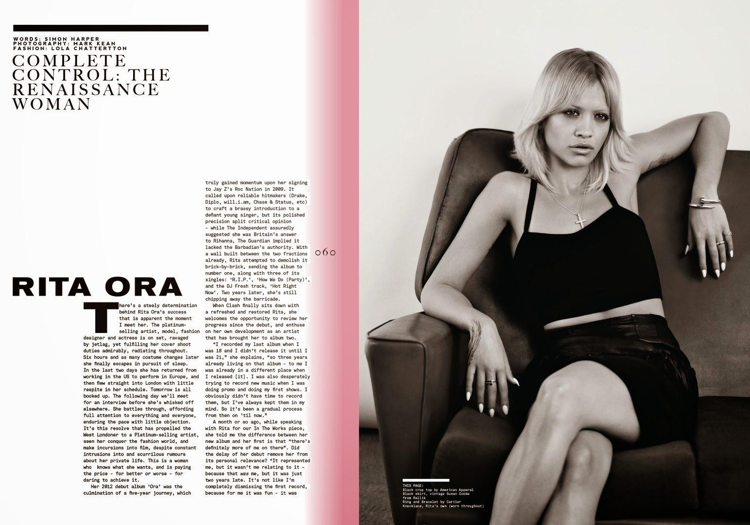 Image result for rita ora Clash Magazine
