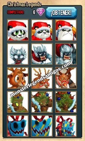 imagen de la coleccion leyendas de navidad de monster legends