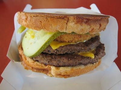 Jack's Big Stack Burger - side view