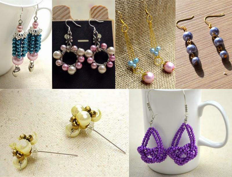 Crafting Wire: Handmade Pearl Bead Earring Ideas