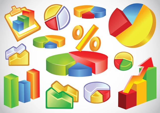 75 Business Statistics Graph Vector Graphics Download