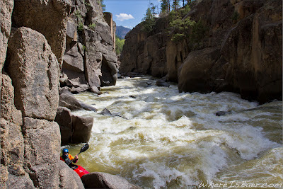 Just an average run out in Pandora's box, animas, chris baer, co, colorado, Baker's, kayak,
