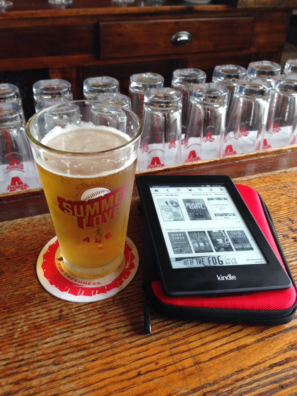 Summer's almost over... dive into a beer and a book