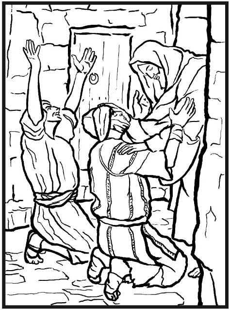 best jesus heals the blind man coloring page pictures printable