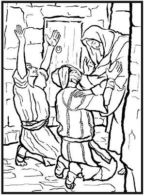 Dibujos Cristianos Para Colorear Leprosos Goliat Tumba