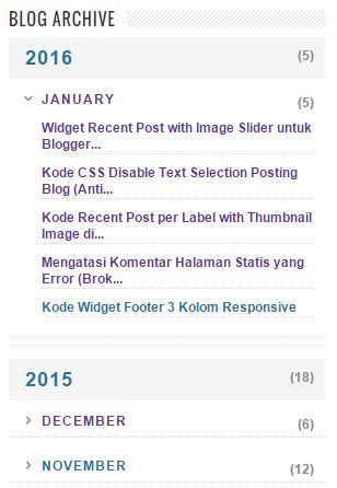Widget Arsip Blog