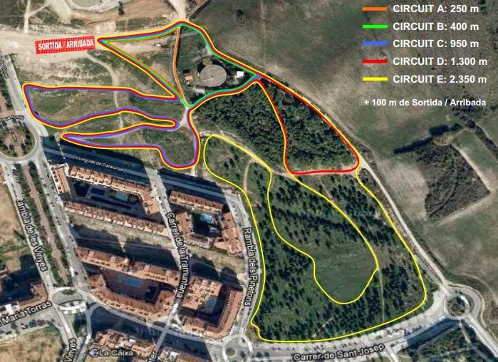 Circuitos del 33è Cros Vila de Ripollet. [Imagen: PAME Ripollet]