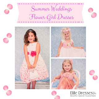 Summer weddings and flower girls dresses