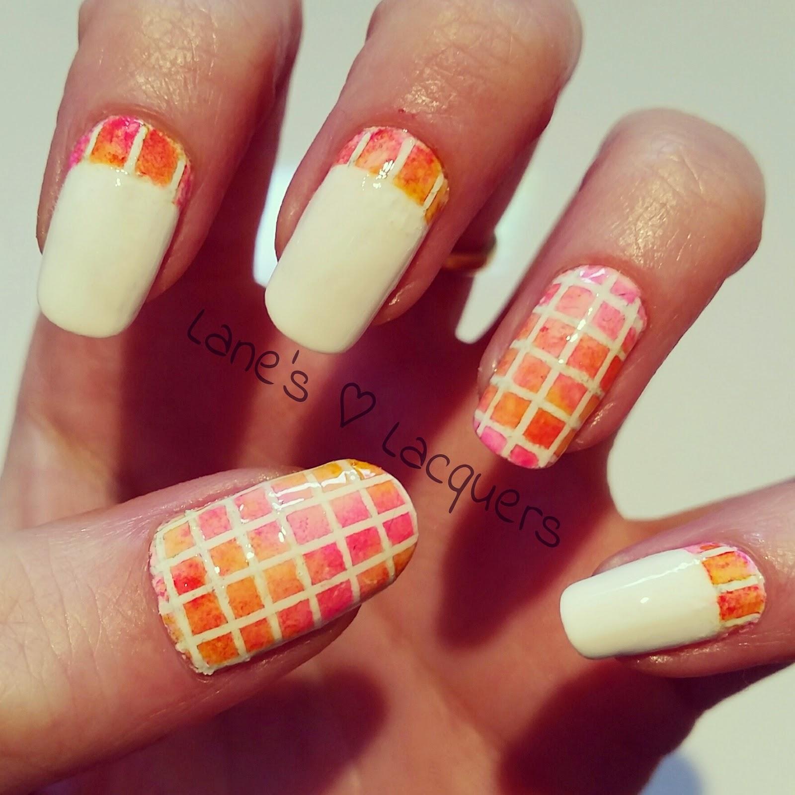 pink-orange-mosaic-ruffian-alcohol-ink-nail-art