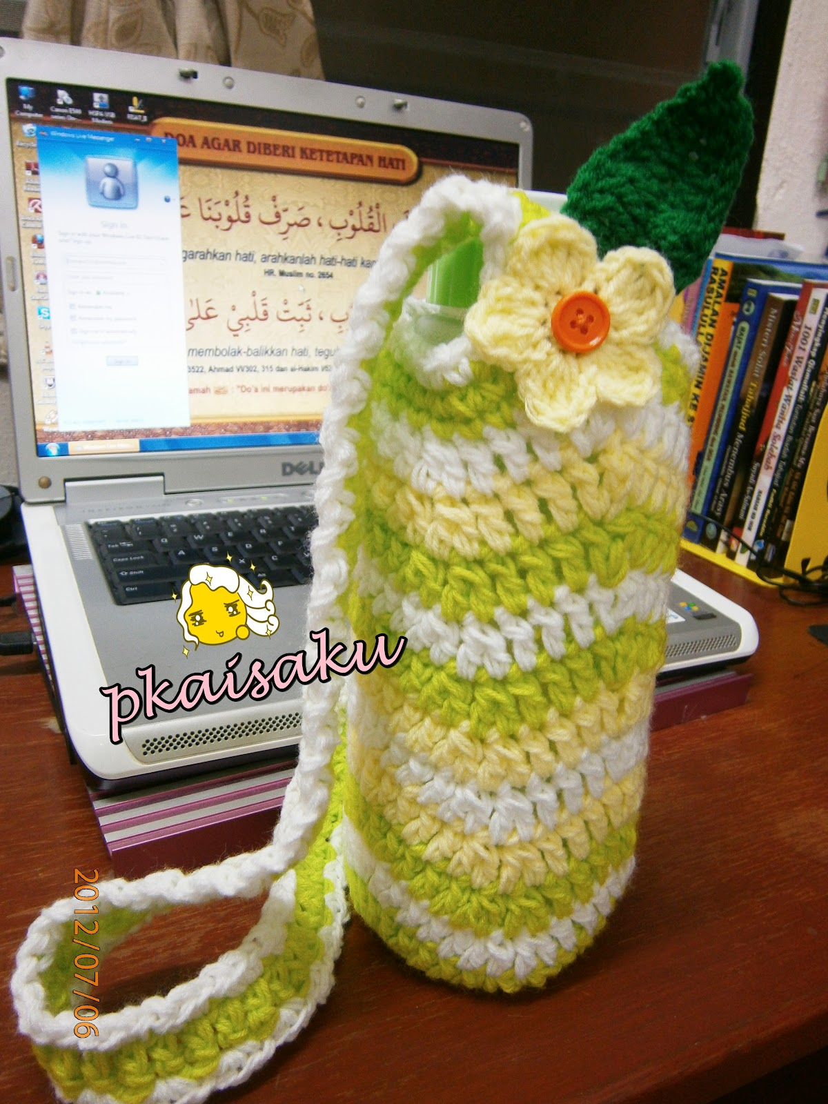 Loveyarns neat ripple water bottle carrier to make it more interesting u can crochet flower and leafen sew it on ur water bottle carriereasy ritebdw its up to u olls how to decorate ur bankloansurffo Choice Image