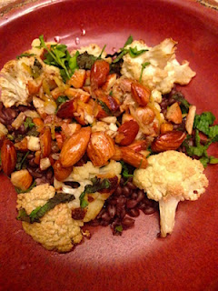 Barley and Roasted Cauliflower with Almonds by Lori Buff