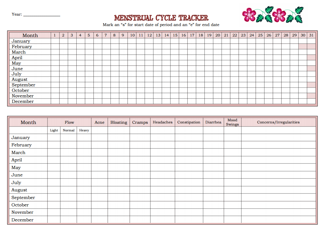 Helping Your Daughters Keep Track of Their Menstrual Cycle