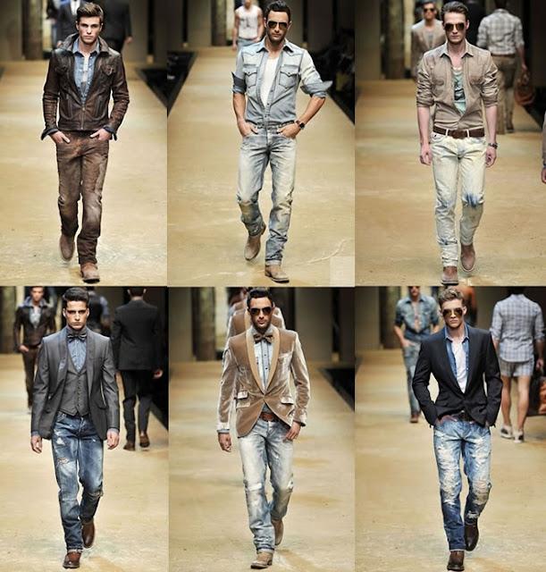 แฟชั่นเสื้อยีนส์สำหรับผู้ชาย