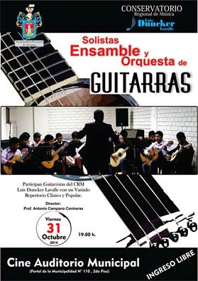 CONCIERTO: SOLISTAS,  ENSAMBLE Y ORQUESTA DE GUITARRAS