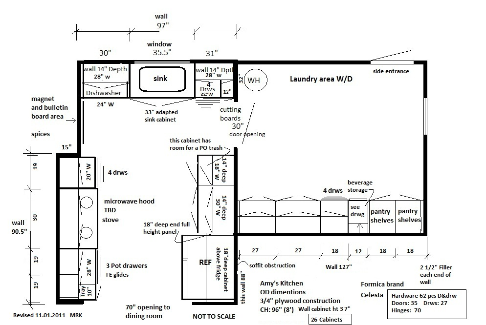 My Daughters Kitchen Continued 3 Floor Plan