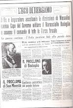 L'ECO DI BERGAMO 26 LUGLIO 1943