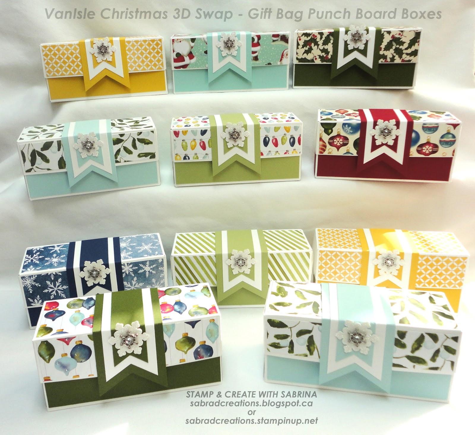 Stamp & Create With Sabrina: VanIsle Swap - Christmas Gift Boxes ...