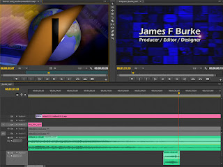 The video editing interface of Adobe Premiere Pro.