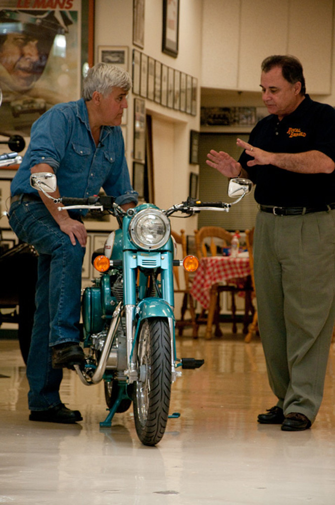 RoyalEnfields.com: Jay Leno learns what's to like about ...