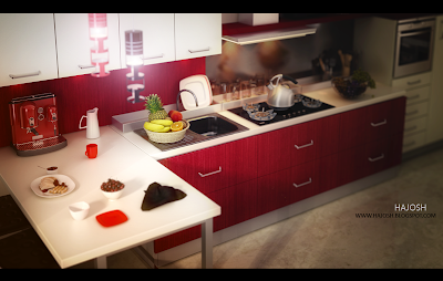 Kitchendesigns on Hajosh Kod  Interior Render  Ifb Artkitchen  Modern Kitchen Designs