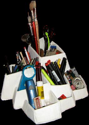 Cardboard Design Workshop Pen Pencil Holder