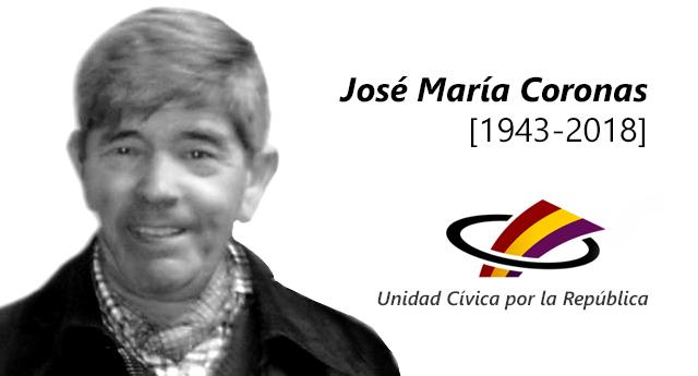 José María Coronas siempre permanecerá en nuestros corazones