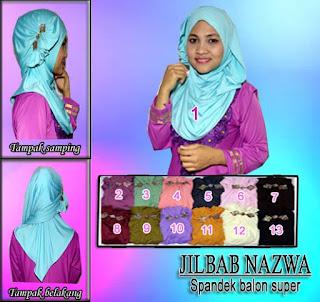 Jual jilbab pashmina instan model nazwa edisi terbaru