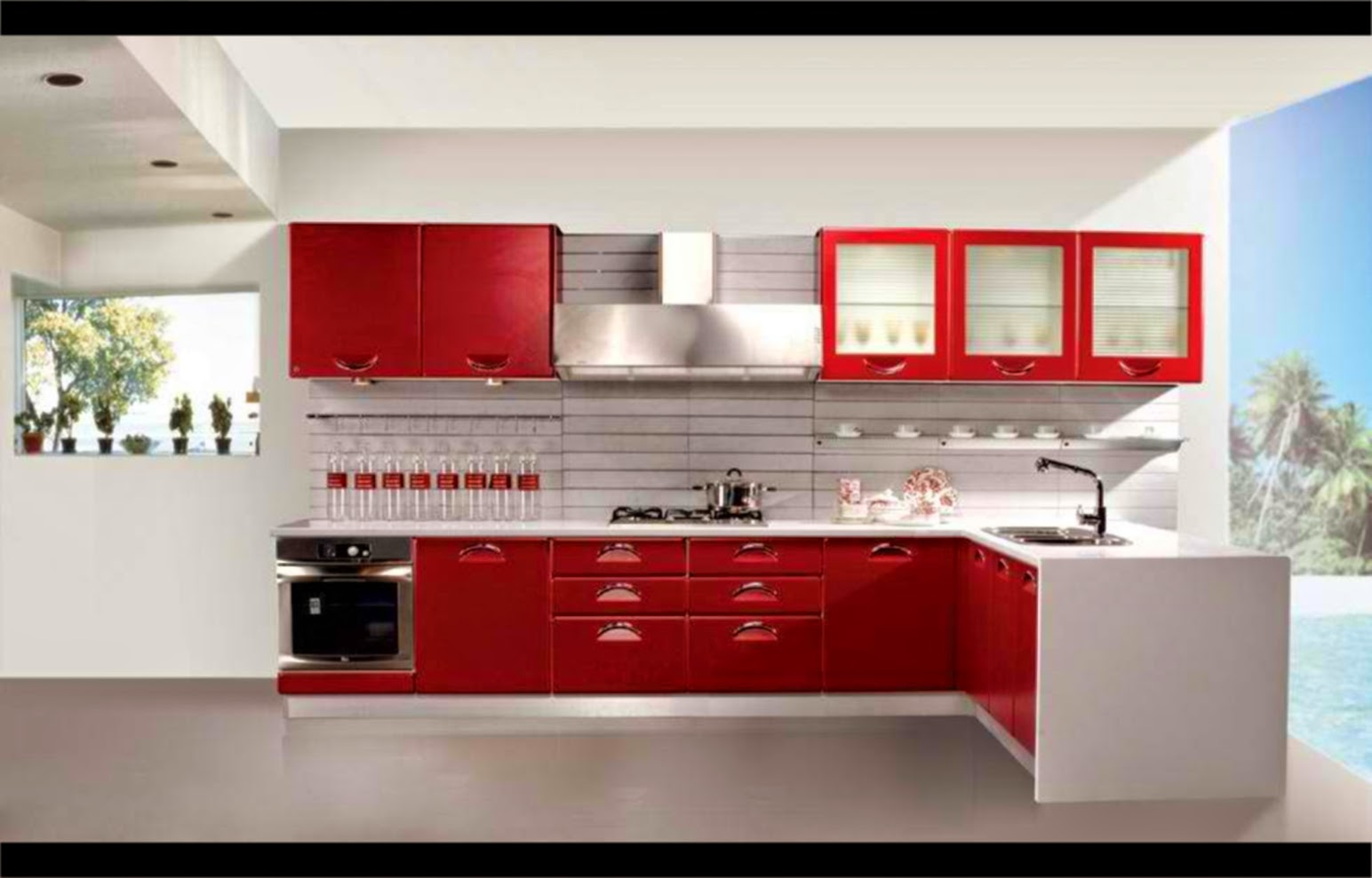 Contoh Model Kitchen Set Minimalis Rumah Minimalis Indah