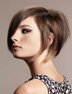 Short Stacked Inverted Bob Hairstyle