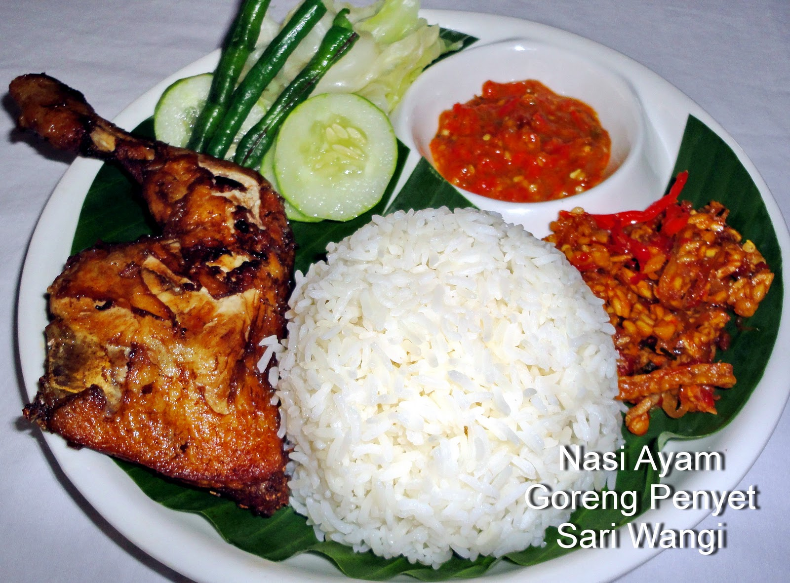 Pondok sari wangi indonesian restaurant all new food menu for Authentic indonesian cuisine