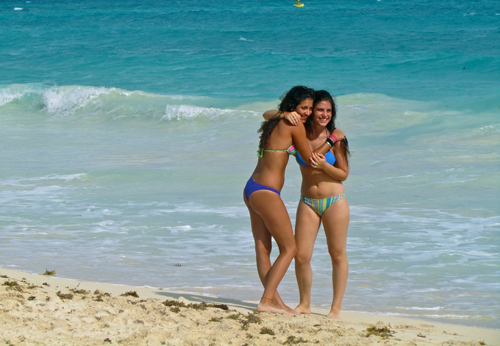 Cancun mexico beach girls