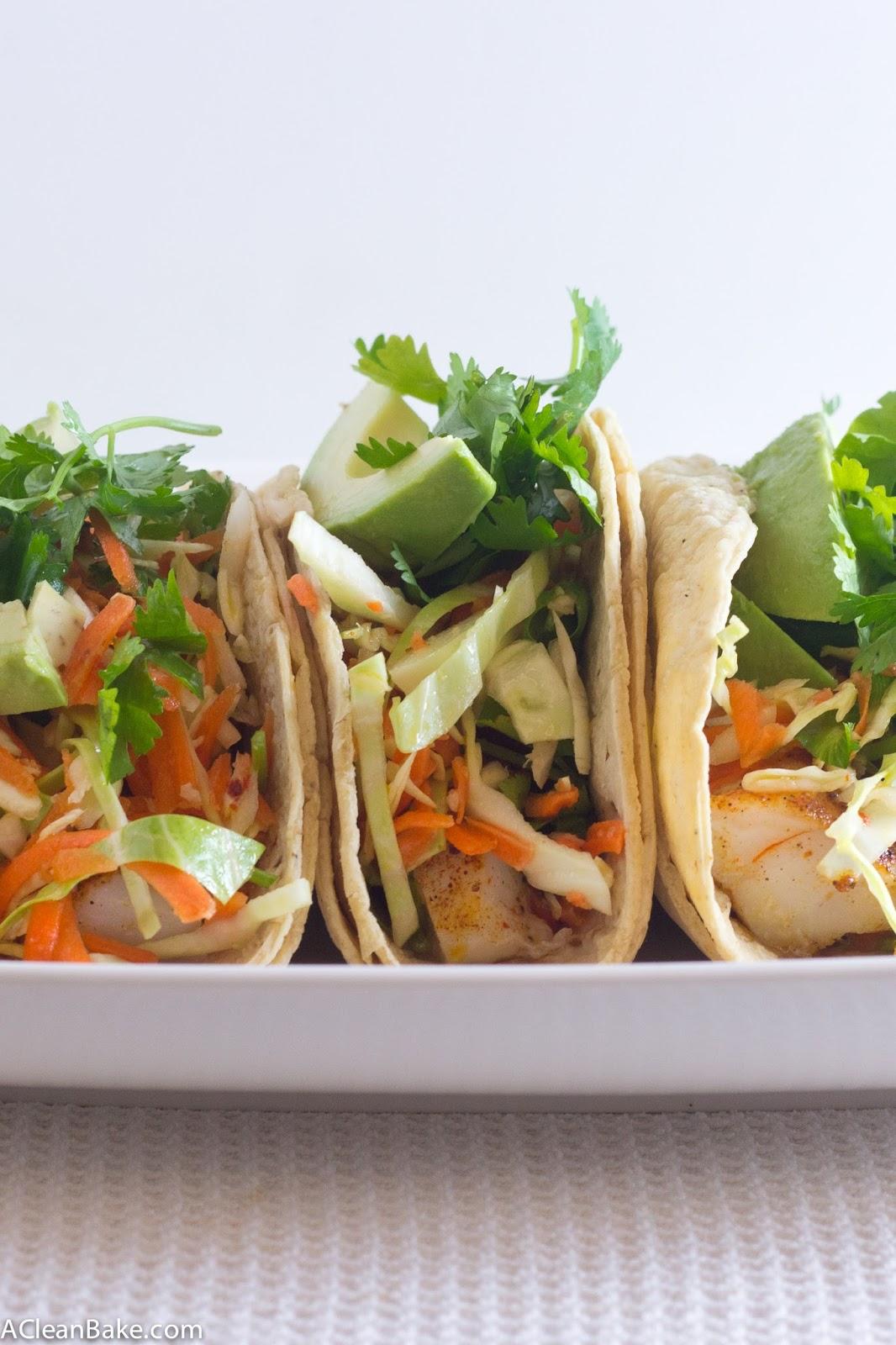 Lightened Up Fish Tacos