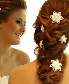 festa, penteado, trança solta, noiva