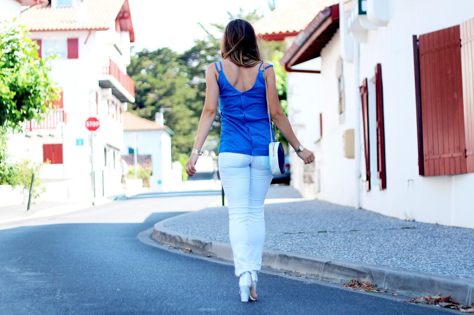 tendance pantalon jean blanc