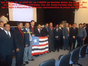 Sgt. Ricardo Dir. da ASSP-PE, no X ENERP, com os diregente das entidades representativas de praças