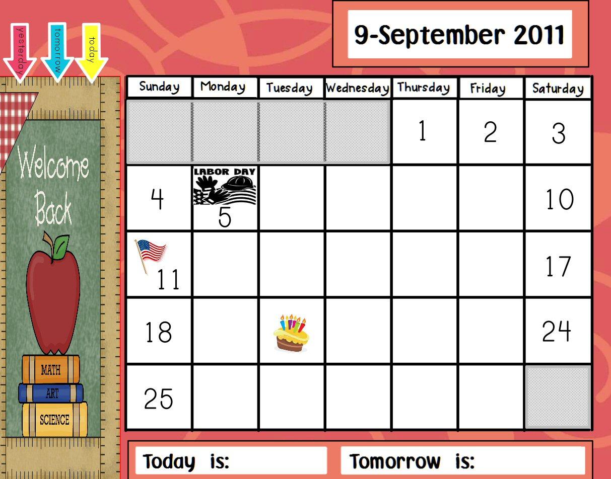 Kindergarten Calendar For Promethean Board : Dizzy for kindergarten promethean calendar
