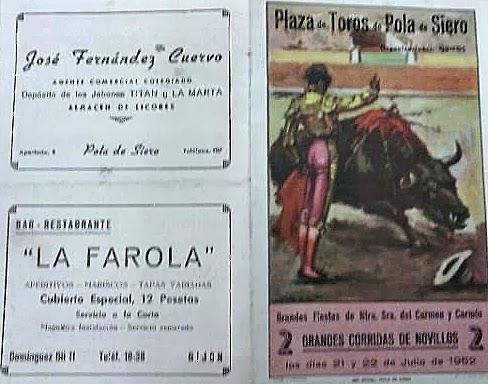 CARTEL POLA DE SIERO 1952