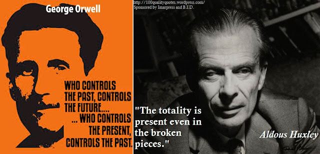 orwell vs huxley George orwell and aldous huxley both had a vision of the future that was inspired and prophetic while george orwell's 1984 is more often cited as an accurate representation of the current state of affairs, elements of a brave new world can already be seen in society, and seem a possible inevitability in a world with an exponential growth of technology, genetics being a key component, with .