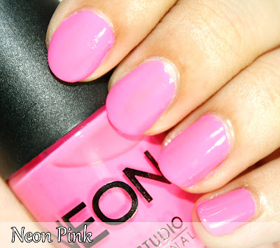 Neon Nail Polish Collection Swatches Color Studio #0: Neon Pink